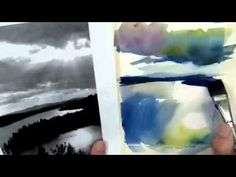 Lesson 14 / Three color watercolor landscape painting / Stan Miller. Great video for understanding value.