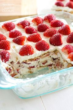 Take fresh strawberries and cream to the next level with this no-bake, one-pan Strawberry Icebox Cake