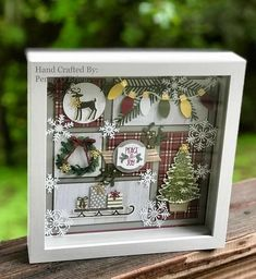 How to Make Easy Christmas Decorations for your Home – Shadow Boxes - How to Make Easy Christmas Decorations for your Home – Shadow Boxes Christmas DIY Decorations Easy and Cheap Christmas Shadow Boxes, Christmas Collage, 3d Christmas, Christmas Paper Crafts, Christmas Frames, Stampin Up Christmas, Great Christmas Gifts, Christmas Projects, Holiday Crafts