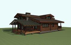 Деревянный дом из клееного бруса. Рубленый дом из лафета. Норвежская   Проекты