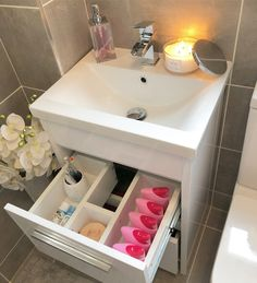 Family bathroom makeover – Pinkpeonyhome Family Bathroom, Bathroom Ideas, Downstairs Loo, Luxury Homes, Bathrooms, Sink, Flooring, How To Plan, House Styles