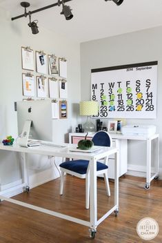 Love this office space. Where can I get a calender like this? Fab idea Need lights?