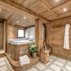 Spa time at Chalet Chopine, Meribel #spa #jacuzzi #ski #skiing #luxury #luxurytravel #relax #unwind #chalet #meribel #travel #holiday