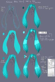 Step By Step - Hatsune Miku Hair TUT by Saviroosje on deviantART