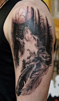Tattoo Hombre Antebrazo Lobo 70 Ideas For 2020 Wolf Tattoo Design, Wolf Sketch Tattoo, Wolf Tattoo Sleeve, Star Tattoo Designs, Tribal Sleeve Tattoos, Wolf Tattoos, Band Tattoos, Body Art Tattoos, African Tribal Tattoos