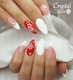 36 amazing winter snowy nails art design page 20 Cute Christmas Nails, Xmas Nails, Christmas Nail Designs, Wedding Acrylic Nails, Fall Acrylic Nails, Trendy Nails, Cute Nails, Thin Nails, Pink Nail Art