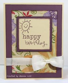 handmade birthday card featuring @Vanessa Jacky-Davis Stamps and patterned papers from #closetomyheart. #stashbusting