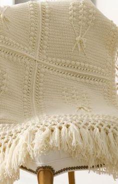 Aran Nosegay Crochet Throw Crochet Pattern