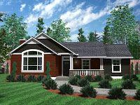 Diseño de casa de un piso de arquitectura estilo normal