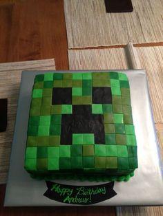 Easy Minecraft Birthday Cake Minecraft Party Party Gift