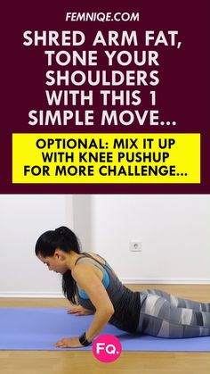 If you want to tighten and tone your arms, this exercise workout routine for arm fat is for you! This arm workout really helps get noticeable definition quickly and is super motivating. Combine this arm exercise with the other the 2 in this quick routine! #armfat #armfatexercises #armfatworkout #howtolosearmfatfast