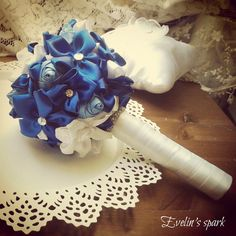 Blue bridal bouquet, Blue wedding bouquet, Sparkling bouquet