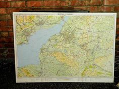 VINTAGE WALL MAP BRISTOL & NORTH SOMERSET BOARD MOUNTED North Somerset, Wall Maps, Vintage Walls, Bristol, Vintage Items, Vintage World Maps, Amp, Antiques, Board