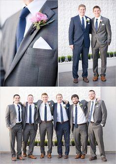 gray and navy groomsmen suits @weddingchicks
