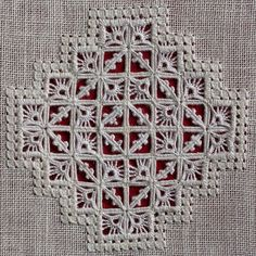 A gorgeous reticello piece! I would love to do something like this if life ever slows down! Types Of Embroidery, White Embroidery, Embroidery Patterns, Hand Embroidery, Hardanger Embroidery, Cross Stitch Embroidery, Picot Crochet, Drawn Thread, Linens And Lace