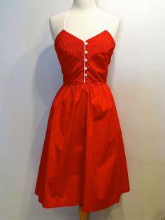 Vintage Red Pintuck Sundress. Love vintage looks.