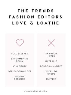 2016 The Trends Fashion Editors Can't Stand (and theOnesThey Love) via @WhoWhatWear