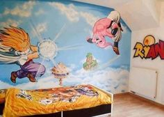 Dbz on pinterest dragon ball z android 18 and goku for Dragon ball z bedroom