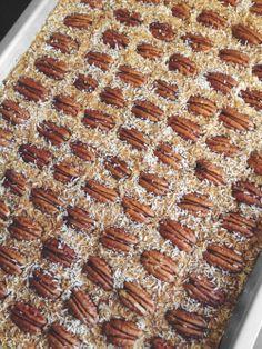 apple pie pecan bars — paleo, vegan, gluten free