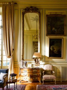 Chateau du Grand Luce - 18th-century Loire Valley château painstakingly restored by American designer Timothy Corrigan.