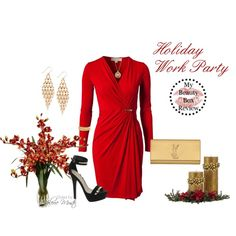 """Holiday Work Party"" by styled-by-valerie-musto on Polyvore"