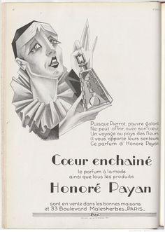 Cœur enchaîné parfum Honoré Payan Paris 1926