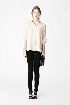 Mixing Neutrals Look 4 Oversized Stand Collar Shirt