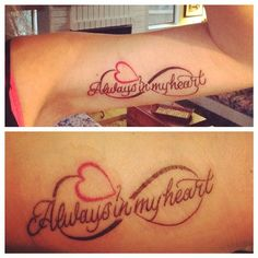 My daughter and I are thinking about getting matching tattoos.I like this idea. Mother Daughter Infinity Tattoos, Mom Daughter Tattoos, Daddy Tattoos, Bunny Tattoos, Family Tattoos, Tattoos For Daughters, Couple Tattoos, Niece Tattoo, Bestie Tattoo