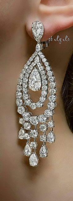 92943f2f4 208 Best Diamond chandelier earrings images in 2018   Earrings ...