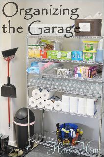 organizing the garage, garages, organizing