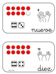 TRABAJAMOS LOS DADOS Y LSA MANOS DE GOMA EVA Playing Cards, Kids Math, Card Games, Jelly Beans, Note Cards, Cards