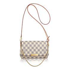 Favorite PM +Damier Azur Canvas - Handbags | LOUIS VUITTON