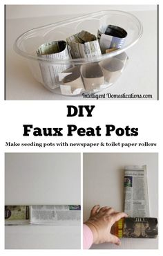 DIY Faux Peat Pots.intelligentdomestications.com