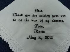 Gift for Mother In Law of the Bride