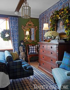 Our own bedroom - all set for the Christmas season - from Traditional Home 2015