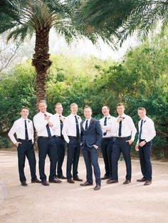 Red And Blush Airbnb Backyard Wedding Groomsmen in navy and white looks Casual Groomsmen Attire, Rustic Wedding Groomsmen, Groomsmen Looks, Groom And Groomsmen Attire, Red Wedding, Wedding Men, Wedding Suits, Wedding Attire, Gothic Wedding