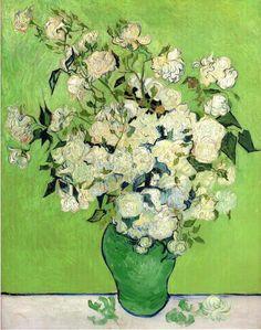 ゴッホ 花瓶のバラ