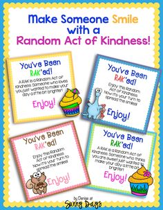 Random Acts of Kindness - free tags
