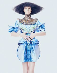 Key Looks For Spring How To Spend It, 2010 Photographer: Andrew Yee Model: Nicola Haffmans Alexander McQueen, Spring 2010