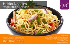 Hakka Noodles -  Vegetable / Chicken