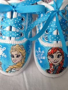 Kids Frozen shoes on Etsy, $50.00