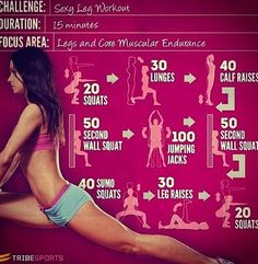 Workout for sexy legs