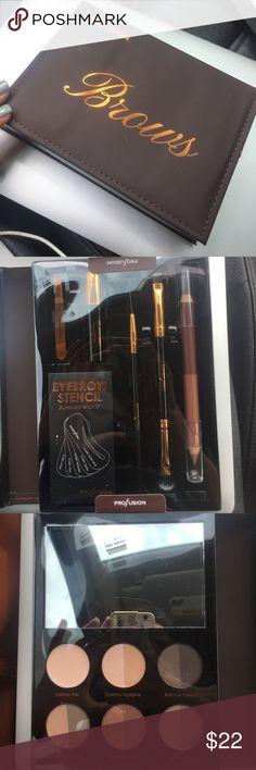 NWT brow kit Comes with every eyebrow tool and powders you need pro fusion Makeup Eyebrow Filler