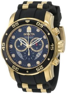Men's 6981 Pro Diver Collection Chronograph Black Dial Black Polyurethane Watch by #Invicta