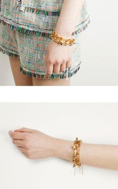 2013 S/S The New Woman's Accessory  Conic Square Chain Bracelet Gold Square Chain Bracelet www.diplomatique.co.kr