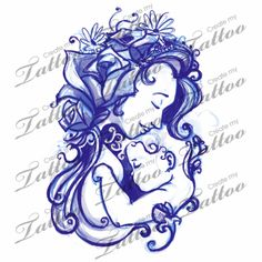 Mother Son Tattoos | On Other Hip Blooming Of The Mother And Child Createmytattoocom
