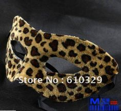 free shipping wholesales 20pcs/lot 2character sexy Adult Std Leopard mask masquerade masks Venetian animal piont print half mask-in Party Masks from Home & Garden on Aliexpress.com