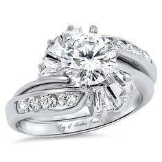This Perfect Round Cut Russian Lab Diamond Bridal Set is a perfect combination of distinction and statement. This is for the person who wants something different and stands out from the crowd. Russian lab diamonds are grown by a proprietary . Bridal Ring Sets, Bridal Jewelry Sets, Bridal Rings, Wedding Rings Solitaire, Wedding Ring Bands, Diamond Engagement Rings, Cubic Zirconia Engagement Rings, Thing 1, Bridal Bracelet