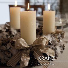KRANZ centrotavola - idee per Natale di Mara De Stefani KRANZ - centerpiece - Christmas Ideas by Mara De Stefani