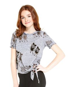 Girl Squad Tie Front Burnout Tee by Terez